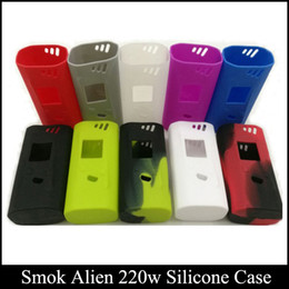 Wholesale Silicone Rubber Boxes - Smok Alien Silicone Case Colorful Rubber Sleeve Protective Cover Skin For Smok Alien 220w Box Mod Kit smok case