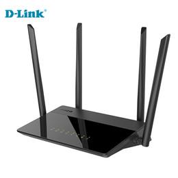 Wholesale D Link Stock - Discount Cheap D-Link 1200Mbs English Russian 5G Modem Home Fiber WiFi Router Firmware 2.4G 5Ghz Gigabit Smart Wireless Router