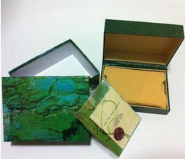 Wholesale English Leather Wholesale - watches box green leather watches booklet card tags and papers in english 001