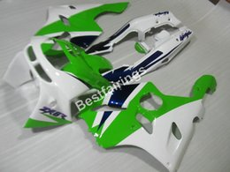 Wholesale Kawasaki 1997 Zx6r Plastics - High quality plastic fairing kit for Kawasaki Ninja ZX6R 1994-1997 white green fairings set ZX6R 94 95 96 97 OT05