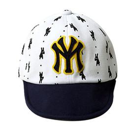 Wholesale Kids Puppy Hat - Wholesale- Baby Baseball Cap Boy Gril Puppy Printed Letter Kids Hip-hop Sun Hat