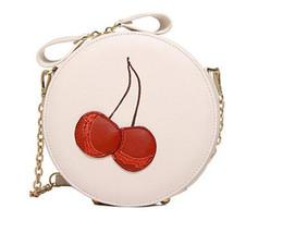 Wholesale Cherry Plain - 2016 New Arrival Shoulder Dual Purpose Mini Bags Ladies Round Cherry Pattern Crossbody Women Messenger Bags MU201