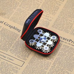 Wholesale Toy Gear Wheels - EDC handspinner Gadget 9 GEAR Hand spinner fidget toy Steampunk fidget machine with 9 wheels Top Finger Gyro Decompression Anxiety Toys