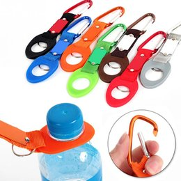 Wholesale Water Bottle Holder Cars - Outdoor Camping Hiking Climb Useful Travel Bottles Hanging Buckle Tool Aluminum Alloy Silicone Carabiner Water Bottle Holder Buckles Gadget