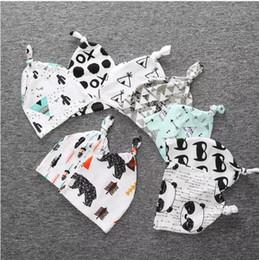 2019 desenhos animados da panda do natal Livre DHL 19 Estilo crianças INS Natal purificado de algodão chapéus de bebê Meninos meninas moda dos desenhos animados ins fox panda tiger tarja caps desenhos animados da panda do natal barato