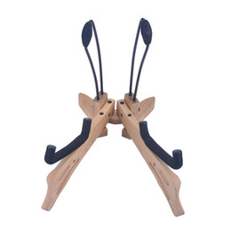 Wholesale bass guitar woods - Hot Selling Wooden Stand For Guitar Cello Bass Foldable Wooden Cello Stand Wood Bass Stand