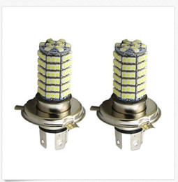 Wholesale Head Lamp Xenon - 50PCS 12V Xenon White H4 9003 120 SMD LED Light Bulb High Low Beam Lamp Head Sales