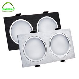 Wholesale 7w Clothing - Wholesale- Led Down Light Ceiling Lamps 6W 10W 14W 24W Dimmable Square Downlights 3W 5W 7W 110V 220V Commercial Lighting Clothing Store