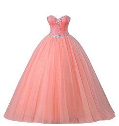 2019 vestido doce 16 destacável 2017 sexy rosa coral vestido de baile quinceanera vestidos com frisado doce 16 dress lace up até o chão destacável vestido de festa qc112 desconto vestido doce 16 destacável
