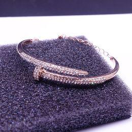 Wholesale Swan Necklace Jewelry - SWAROVSKI Screw Swan Bangle Necklace of Crystal Luxury Brand Bracelet Fashion Jewelry Girl Lady Gift Drop Shipping High Profit Bestselling