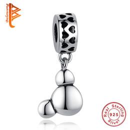 Wholesale Cartoon Pendent - BELAWANG Lovely European 925 Sterling Silver Cartoon Charm Pendent Fit Pandora Charm Bracelet&Bangle Jewelry Making Women Party Gift