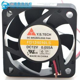 Wholesale 4cm Fan - New Original Y.S TECH 12V 0.055A FD124010LS 40*40*10MM 4CM Cooling fan