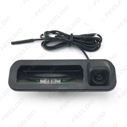 Wholesale Led Car Handle - FEELDO Car Color Night Vision Rear View Camera For Ford Focus 2012 2013 Focus 2 Focus 3 Trunk Handle Camera With LED #4684