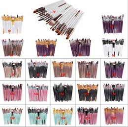 Wholesale Professional Makeup Brush Set 22 - New Professional 20pcs Makeup Brushes Set Cosmetic Face Eyeshadow Tools Makeup Kit Eyebrow Lip Brush 22 style in stock
