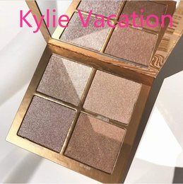 Wholesale Makeup Palette Mix - Dropshipping NEW Kylie Cosmetics vacation edition Makeup Bronzers & Highlighters Powder Foundation Palette 4 color Collection