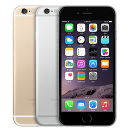Wholesale Dual Core Iphone - Refurbished Original Apple iPhone 6 Unlocked 4.7 inch Retina Screen 16GB 64GB ROM IOS 9 Dual Core 8.0MP Camera 1080P LTE 4G Free DHL 1pcs