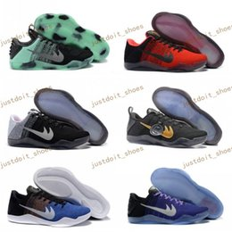 Wholesale Child Patent Boots - Children Kobe 11 XI Elite Low Basketball Shoes Women child kids 2017 Retro KB 11s Boots Sneakers Cheap EP Trainer Sports Shoes Eur 36-40