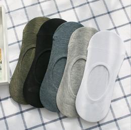 Wholesale Black Cotton Socks For Men - Fashion New Summer Men's Cotton Bamboo fiber Socks Low Socks Cotton Seamless Invisible Socks Sock Slippers For Men