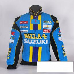 Wholesale Moto Auto - Wholesale- Man SUZUKI jacket MOTO GP motorcycle motorbike biker auto driver winter cotton jackets coat