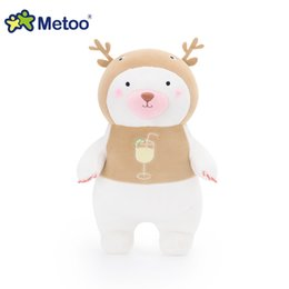 Wholesale Inflatable Doll New - Wholesale- Metoo New Arrival Plush Bear Doll Stuffed Cartoon Toys Kawaii Animal Boneca Toys For Baby Kids As Girls Birthday Chirstmas Gift