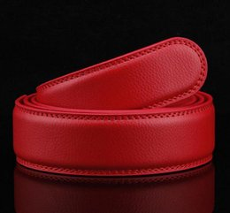 Wholesale Wholesale Leather Belts For Men - 50PCS 5 color 3.5CM Men Genuine Leather Belt For Automatic Buckle Waist Strap Belt