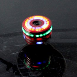 Wholesale Spinning Wood Toy - Colorful Light Music Gyro Peg-Top Spinning Tops Kids Children Imitation Wood Gyro Colorful Lights Plus Laser Flash Music Top Toy Gift