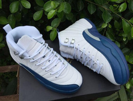 Wholesale Perfect Game - Drop Shipping Super Perfect Quality Retro 12 Flu Game French Blue The Master With Box Men Basketball Sport Shoes Ship out in 2days with box