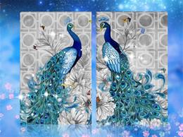 2019 pintura do diamante pavão DIY 5D Rodada Kit Pintura Diamante Bordado Animal Mosaico De Diamantes Pavão China Pintura Home Decor 32X45 cm pintura do diamante pavão barato