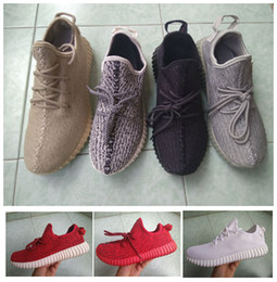 Wholesale White Canvas Oxford Shoes Men - 2017 Boost 350 Women Men 350 Boost Kanye West Moonrock Oxford Tan Pirate Black Turtle dove red MEN Running shoes walking shoes