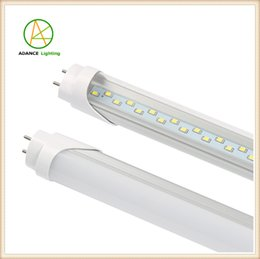 Wholesale Milky Tube - G13 T8 Double pins Led Tube T8 SMD2835 Double rows 4ft led buld lamp Milky cover cold white Tubes light 110v 220v
