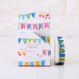 Wholesale Deco Labels - Wholesale- 2016 1.5cm*8m Deco Festival washi tape DIY decoration scrapbooking planner masking tape adhesive tape label sticker stationery