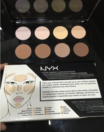Wholesale Pro Grooming - NYX Highlight Contour Pro Pattle Review Face Pressed Powder Foundation Grooming Shadow Powder Palette braand Makeup Cosmetic kyli 8 Colors