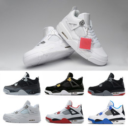 Wholesale Games Money - [With Box] 2017 High quality Air Retro 4 IV Basketball Shoes Sports Sneakers Men Retros 4s BLACK MOTORSPORT GAME Pure money shoes 41-47
