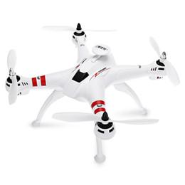 Helicóptero rc 4ch sin escobillas online-BAYANGTOYS RC helicóptero motor sin escobillas 2.4G 4CH 6 ejes FPV Quadcopter RTF retorno automático 360 Degree Flip Drone envío gratis