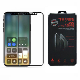 Wholesale Soft Glass Wholesale - For iPhone X Tempered Glass 3D Soft Edge Full Cover Tempered Glass For iPhone 8 Plus 7 6S Plus Screen Protector Protective Film