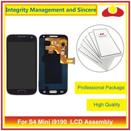 """Wholesale Galaxy S4 Display Blue - 4.3"""" For Samsung Galaxy S4 Mini i9190 Full Lcd Display Touch Screen Digitizer Sensor Assembly Complete With Frame White Blue"""