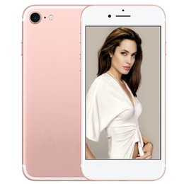 Wholesale Real Gold Bars - ERQIYU goophone i7 plus real 4G LTE Fingerprint touch ID android 6.0 smartphone 4G 64GB ROM MTK65735 octa core Cell phones
