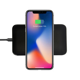 Wholesale Qi Wireless Charger Transmitter Iphone - Qi Wireless Charger Transmitter Pad AC charging Mat For Iphone X 8 Plus Samsung Galaxy S8 S7 S6 Edge plus NOTE 8