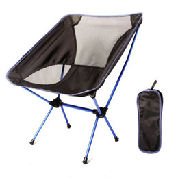 Wholesale Mesh Lounge - 12.5*10.5*35.5Cm Folding Chairs Outdoor Camping Chair Portable Light Weight Canvas Fortify Mesh Comfortable Lounge Chair For One Person
