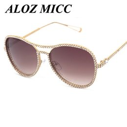 Wholesale Rhinestone Designer Sunglasses - ALOZ MICC Vintage Women Sunglasses New Brand Designer Retro Frame Rhinestone Framework Eyeglasses Optical Eyewear UV400 A173