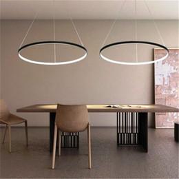 Wholesale Ring Hotels - Free shipping LED 80cm 30W Pendant Light Modern Design LED RingSpecial for office Showroom Living Room 110-240v LED Ring Pendant Light