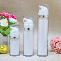 Wholesale Wholesale Treatment Pumps - 15ML 30ML 50ML Travel Refillable AS Cosmetic Airless Bottles Plastic Treatment Pump Lotion Containers fast shipping F20172270