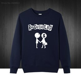 Wholesale Newest Style Mens Hoodies - Wholesale- RadioHead England RockStar Mens Men Sweatshirts fashion free shipping newest style 2017 Thom L .Yorke clothing Hoodies Pullover