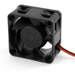 Cables del ventilador de la caja online-¡PROMOCIÓN al por mayor! Nueva Negro Plástico 12 V DC 40mm 20mm 2 Alambre PC PC CPU Refrigeración Ventilador