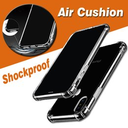 Wholesale Iphone 5s Tpu Rubber - Air Cushion Clear Transparent Crystal Shockproof Ultra Thin TPU Soft Rubber Full Protection Cover Case For iPhone X 8 7 Plus 6 6S SE 5S 5