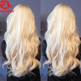 Wholesale Blonde European Hair Virgin Wig - Honey Blonde Full Lace Human Hair Wig For White Women Glueless Lace Front Blonde Wigs Virgin Human Peruvian Hair Long Blonde Wig