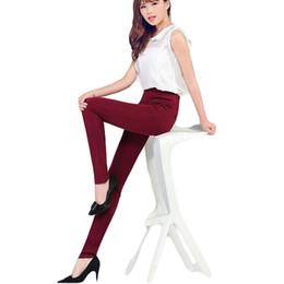 Wholesale Korean Fashion Pants For Women - Wholesale- S-XXXXL Korean High Elastic Cotton Legging Cotton Leggings High Wasit Pencil Pants Leggings New Fashion Jegging For Women BG261