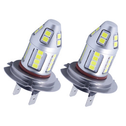 Wholesale Vw Side Marker Lights - Quality car led lights H7 foglamp 30led 2835smd xenon white for atv bmw audi honda vw mazdabenz