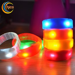 Wholesale Night Light Music Toy - Music Activated Sound Control Led Flashing Bracelet light up toys Bangle Wristband Club for party bar Cheer Luminous Night Light