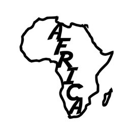 Wholesale Red White Wall Decals - Wholesale 10pcs lot Beautiful Shape Map of Africa Car Sticker for Wall Truck SUV Motorcycles Laptop Kayak Car Decor Reflective Vinyl Decal